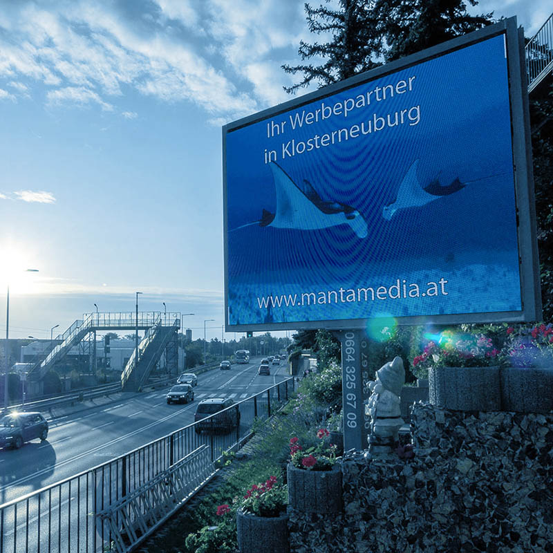 Manta Media digitale Außenwerbung in Klosterneuburg